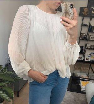 Weite flowy Bluse von Zara in weiß
