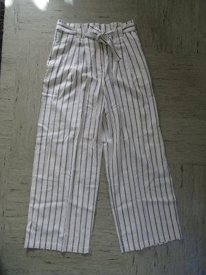Asos Tall Spodnie wiązane w talii biały-antracyt
