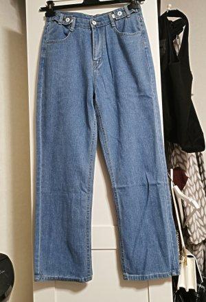 Vintage Jeansy typu boyfriend Wielokolorowy
