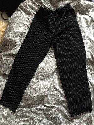 H&M Pantalone peg-top nero-bianco