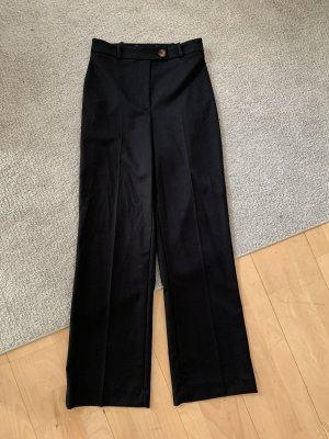 Hallhuber Jersey Pants black-black brown