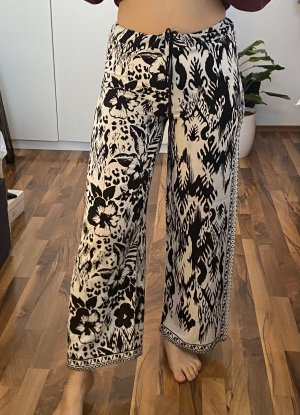 Calzedonia Falda pantalón de pernera ancha blanco-negro