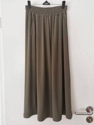 Pantalone palazzo grigio-verde-cachi