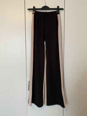 Bershka Falda pantalón de pernera ancha negro-rosa