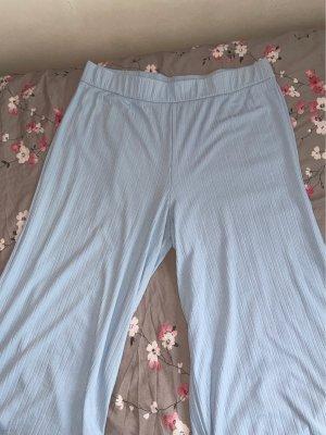 Zalando Jersey Pants baby blue-light blue polyester