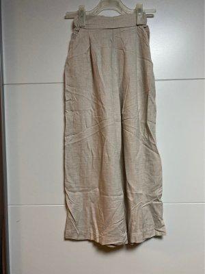 H&M Pantalon Marlene crème-chameau