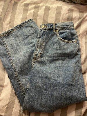 Pull & Bear Jeansowe spodnie dzwony stalowy niebieski