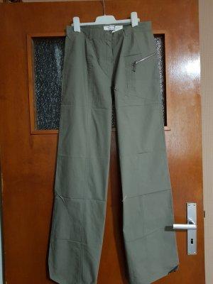 Heine Pantalone a zampa d'elefante grigio-verde-cachi