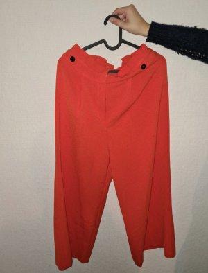 Primark Bandplooibroek neonoranje-rood Polyester