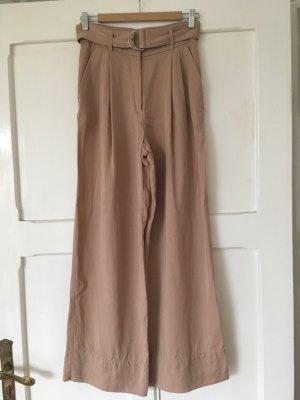 HM Hoge taille broek stoffig roze