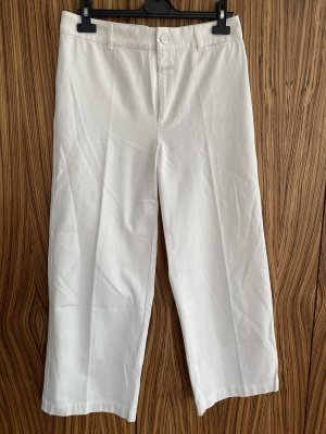Closed High Waist Trousers natural white