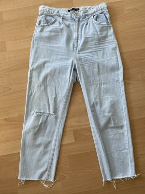 Bershka Jeans 7/8 bleu pâle