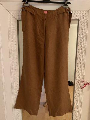 Kyra Pantalon en lin brun