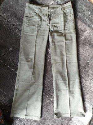Xanaka Lniane spodnie oliwkowy