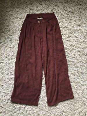 Pull & Bear Falda pantalón de pernera ancha rojo amarronado