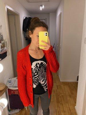 Vila Veste en tricot rouge