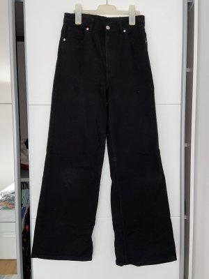 H&M Pantalone a zampa d'elefante nero