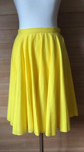 COS Tafzijde rok geel Katoen
