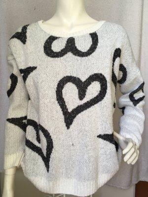 Atmosphere Oversized Sweater white-black