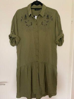 Reserved Peplum Dress khaki