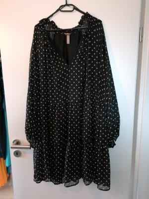 H&M BB Sukienka tunika biały-czarny