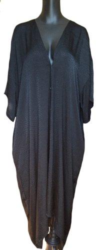 Weites langes Kleid mit Knopfleiste und Muster