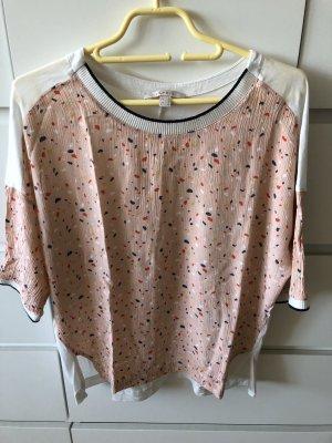 weites Shirt Esprit - vorn rosa und gemustert, hinten weisser Shirtstoff