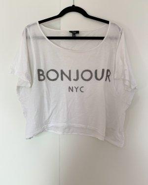 weites Shirt von Mango Größe S Weiß