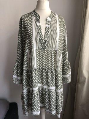 Weites Sommerkleid | Weiß Khaki