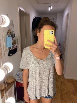 H&M T-shirt col en V gris clair