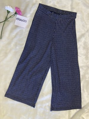 Culottes donkerblauw-wit