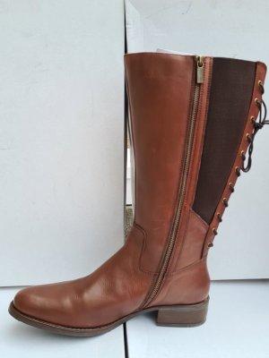 Sheego Jackboots brown leather