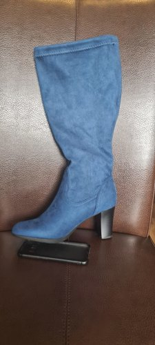 Sheego Botki stalowy niebieski-chabrowy