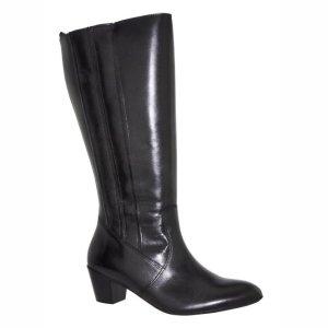 Jj footwear Bottes à tige large noir cuir