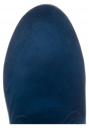 Sheego Botas elásticas azul tejido mezclado