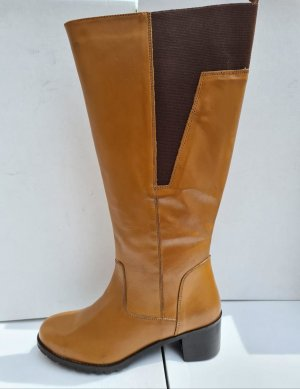 Sheego Stretch Boots sand brown-light brown leather