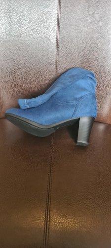 Sheego Wide Calf Boots cornflower blue-petrol