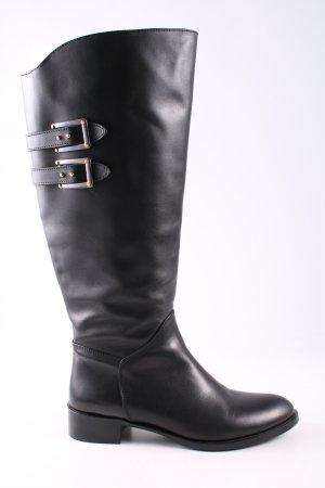Wide Calf Boots black casual look