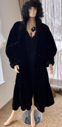 Cappotto in eco pelliccia nero Tessuto misto