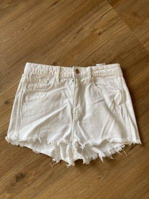 & DENIM Pantaloncino a vita alta bianco