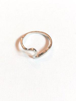 Wellen Ring silber Gr.17-18