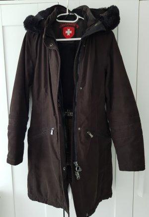 Wellensteyn Kurtka zimowa czarny-ciemnobrązowy