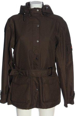 Wellensteyn Veste à capuche brun motif à carreaux style décontracté