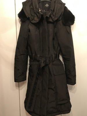 Wellensteyn Manteau à capuche brun foncé fibre textile