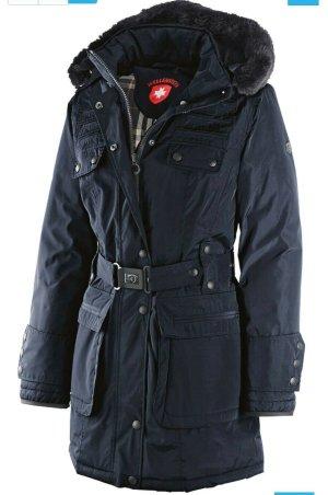 Wellensteyn Abrigo de invierno azul oscuro Poliéster