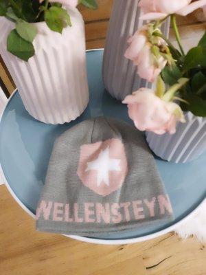 Wellensteyn Gebreide Muts grijs-stoffig roze