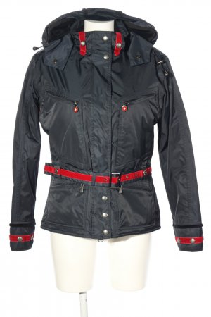 Wellensteyn Veste d'extérieur noir-rouge style décontracté