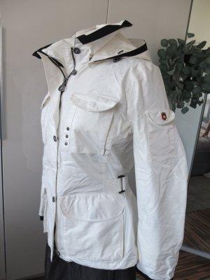 Wellensteyn weiße coole Jacke mit Kapuze ungetragen Revolution M