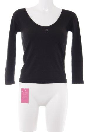 Wellicious Sportshirt schwarz-graubraun Casual-Look