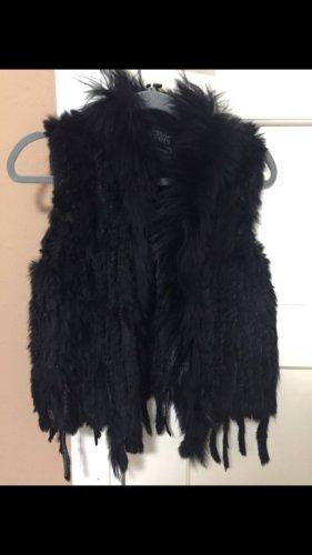 We Love Furs Gilet en fourrure noir pelage